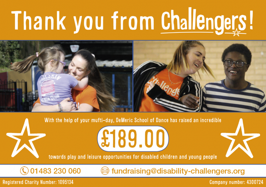 Thank you from Challengers!