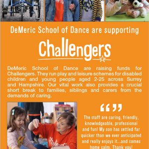 DeMeric are supporting Challengers